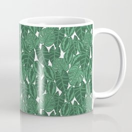 Botanical tropical pattern leaves painting watercolor free spirit boho modern pattern garden house Coffee Mug