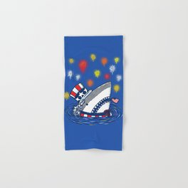The Patriotic Shark Hand & Bath Towel