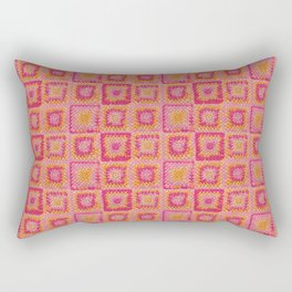 Circle in A Square Rectangular Pillow