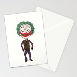 WHY SO SERIOUS? HEATH JOKER IN TIM BURTON STYLE Stationery Cards