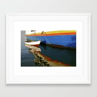 water colour Framed Art Prints featuring Water Colour by David Jessamy