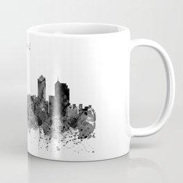 Auckland Black and White Watercolor Skyline Coffee Mug