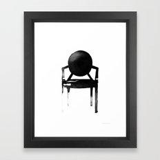 Ghost Chair Framed Art Print