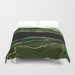 Emerald Marble Glamour Landscapes Duvet Cover
