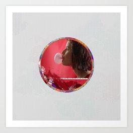 Bubble - Red Art Print