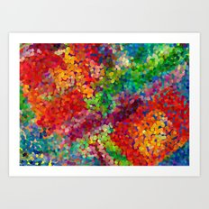 Color Theory Clash Art Print