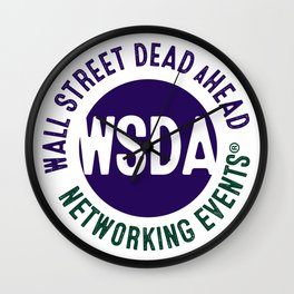 WALL STREET DEAD aHEAD Wall Clock
