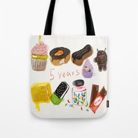 android Tote Bags featuring android  by leonov andrew