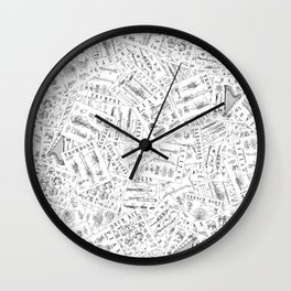 Musical Instrument Vintage Patent Pattern II Wall Clock