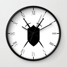 Crossed Swords Silhouette Wall Clock