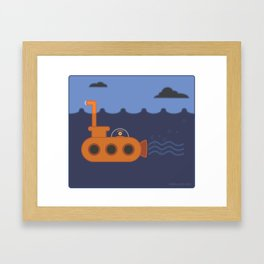 20 thousand leagues under the eye Framed Art Print