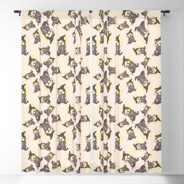 Magic cute Badger With Scarf Blackout Curtain