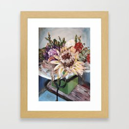 INSIDE THE GIFT BOX - Australian native dried flowers still life by HSIN LIN / H.Lin the Artist Framed Art Print