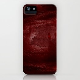 Halloween. Bloody mess and hand traces. Creepy iPhone Case