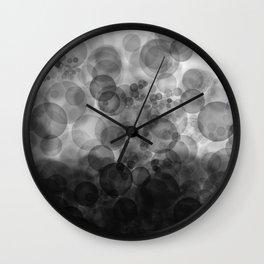 B&W Spotted1 - Reverse Wall Clock
