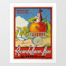 Advertisement ricardo llacer e hijos algemesi Art Print