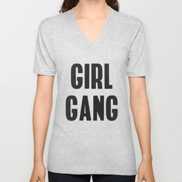 Girl Gang Feminist Art Unisex V-Neck