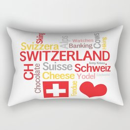 My Favorite Swiss Things Rectangular Pillow
