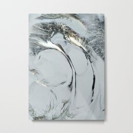 Abstract ice texture 9 Metal Print