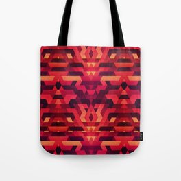 Abstract red geometric triangle texture pattern design (Digital Futrure - Hipster / Fashion) Tote Bag