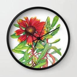 Sunset Daisy Wall Clock