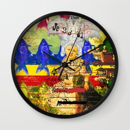 THE WHITE FEATHER HEADDRESS Wall Clock