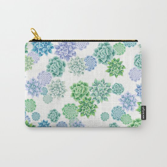 Floral succulent pattern Carry-All Pouch