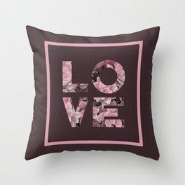 Succulent LOVE #society6 #love #succulent Throw Pillow