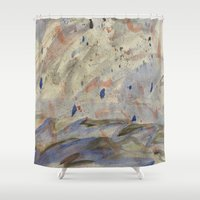 anxiety Shower Curtains featuring Anxiety by Kali Thomas