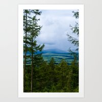 Squall over the Cheviots Art Print