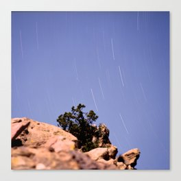 Vazquez Rocks Star Trails Canvas Print