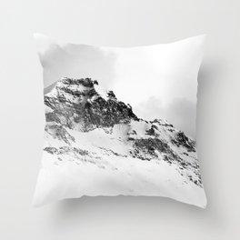 Snowy Peak Throw Pillow
