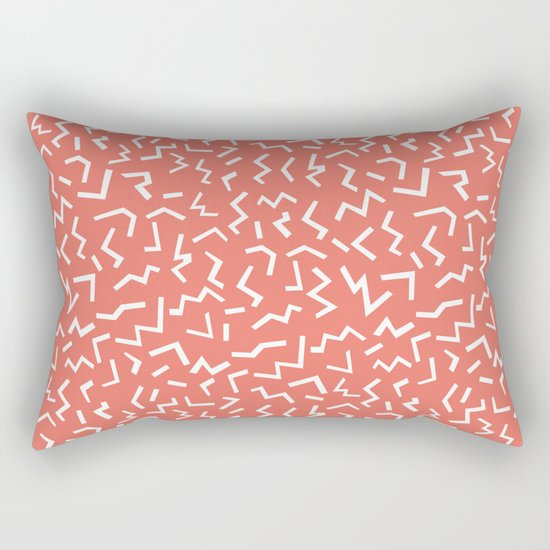 memphis zig zag modern minimal abstract pattern trendy gifts Rectangular Pillow