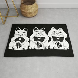 Three Smart Cats Rug