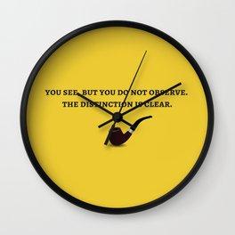 Sherlock Holmes Quote III Wall Clock