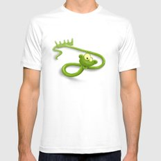 rake in a snake Mens Fitted Tee White MEDIUM