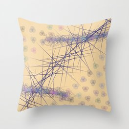 Abstract bubbles Z Throw Pillow