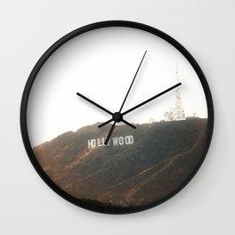 Hollywood Gold Wall Clock