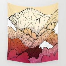 Autumnal Mountains Wall Tapestry
