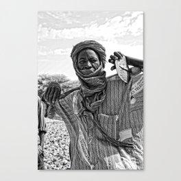 Touareg villager- Timbuktu, Africa Canvas Print