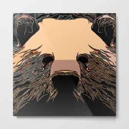 Iconic Grizzly Portrait Metal Print