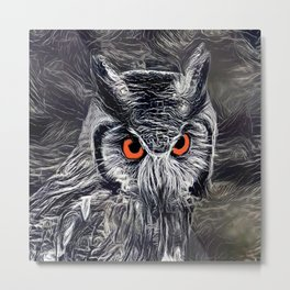 The Great Horned Owl Metal Print