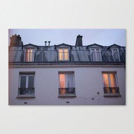 Through the window, light Canvas Print
