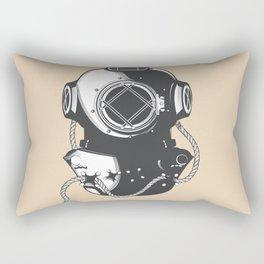 Monterey California USA vintage Diving travel poster Rectangular Pillow