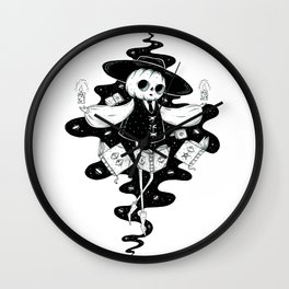 Pumpkin necromancer Wall Clock