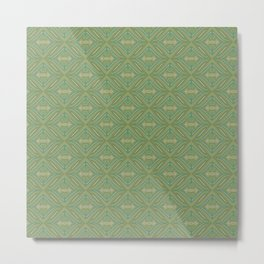 Green Patch Metal Print