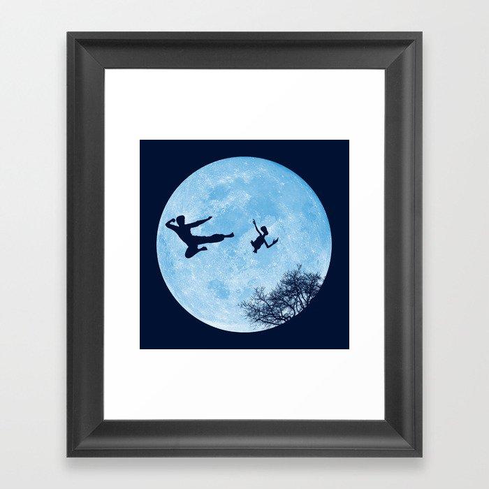 Go Big or Phone Home Framed Art Print