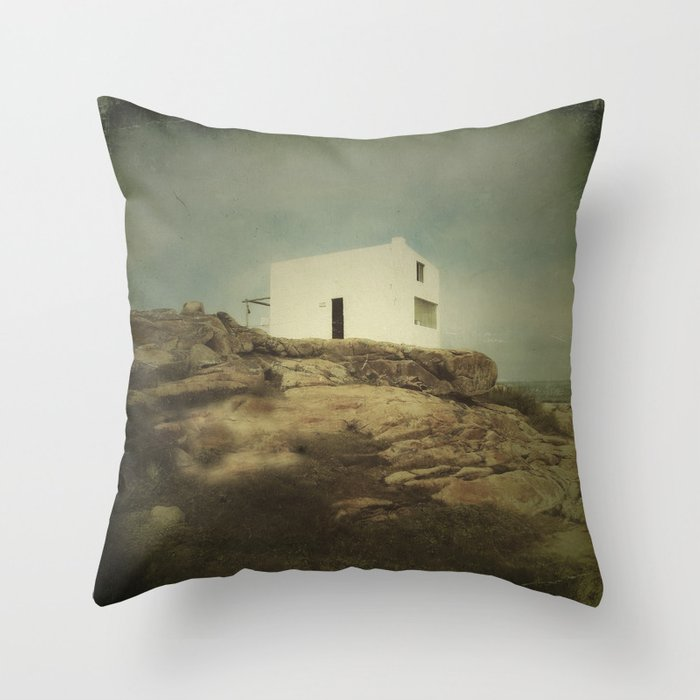 Once Upon A Time Lonely House Throw Pillow By Victoriaherrera