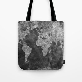 world map 55 black Tote Bag