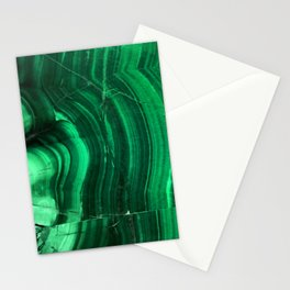Malachite Texture Stationery Cards